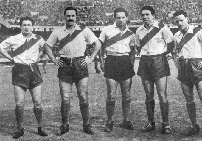 """Durante la década de 1940 a River Plate se les conoció como """"La Máquina"""" - Odio Eterno Al Fútbol Moderno"""