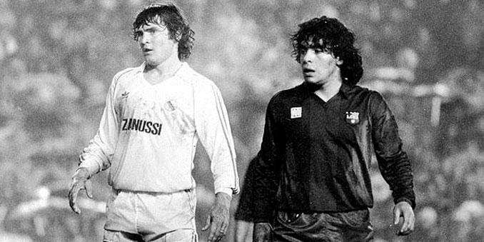 Camacho junto a Maradona