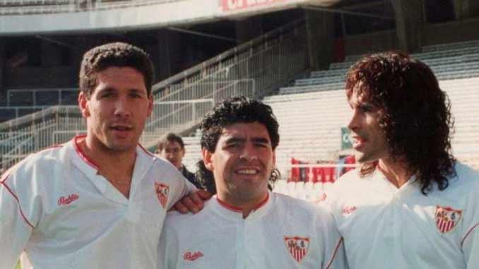 """Diego Pablo Simeone, Diego Armando Maradona y Diego Rodríguez Fernández. El Sevilla de """"Los Diegos"""""""