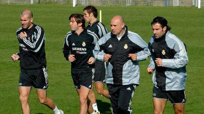 Entrenamiento físico del Real Madrid