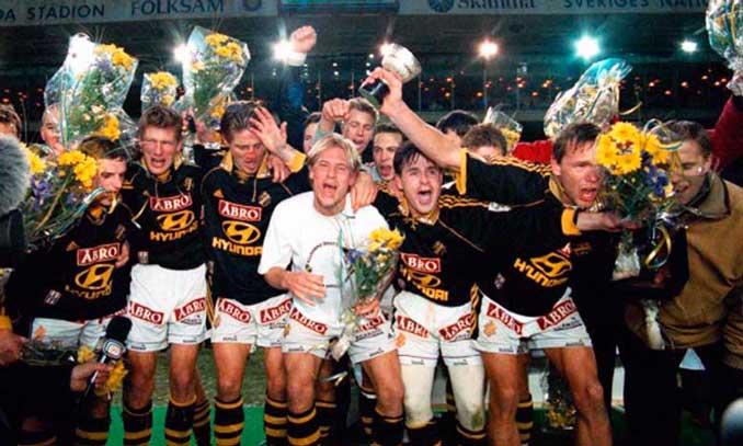 AIK Estocolmo campeón de la Liga sueca en 1998