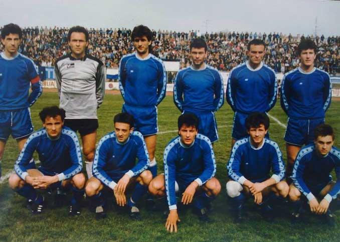 Davor Suker en la plantilla del Dinamo de Zagreb en 1988