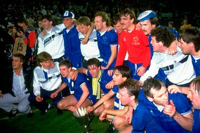 Everton campeón de la Recopa de Europa de 1985