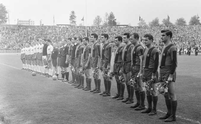 Prolegómenos de la final de la Copa de Europa entre Benfica y Barcelona