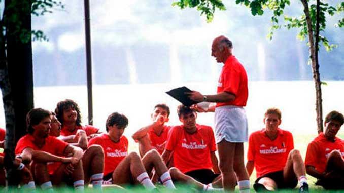 Arrigo Sacchi fue el creador del Milan de Los Inmortales - Odio Eterno Al Fútbol Moderno
