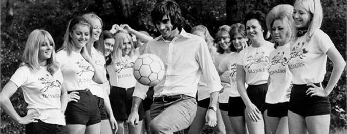 Imagen publicitaria protagonizada por George Best - Odio Eterno Al Fútbol Moderno