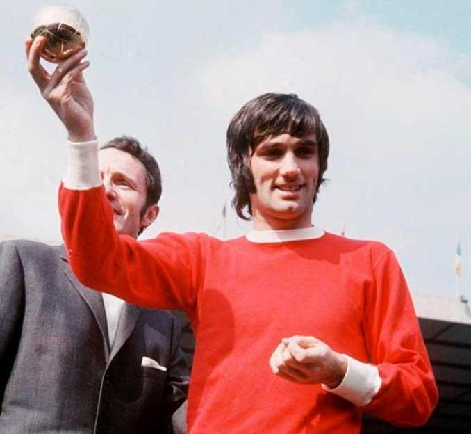 George Best con el Balón de Oro de 1968 - Odio Eterno Al Fútbol Moderno
