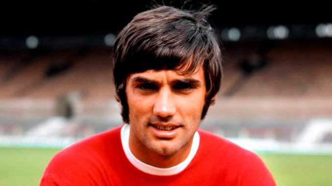 George Best en sus inicios en el Manchester United