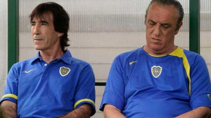 Panadero Díaz y Coco Basile durante su etapa en Boca Juniors