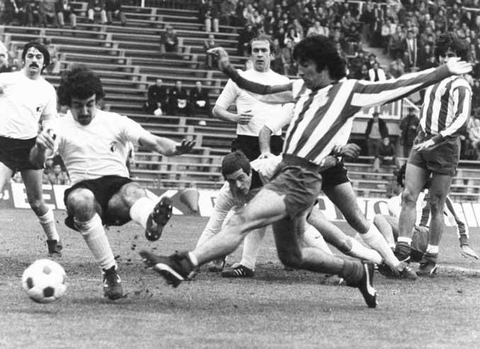 Panadero Diaz durante un partido con el Atlético de Madrid