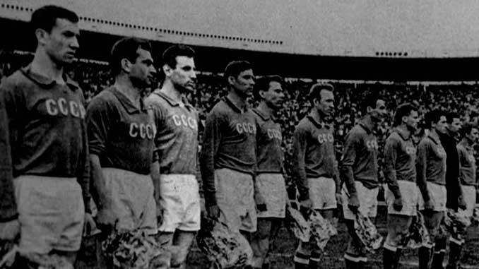 Eduard Dubinksi junto a sus compañeros en la selección de la URSS - Odio Eterno Al Fútbol Moderno