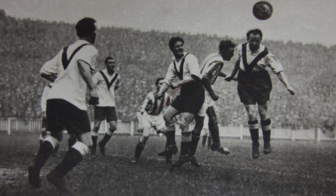 Jugadores del Clapton Orient durante un encuentro en 1923