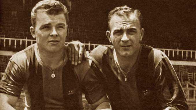 Kubala y Di Stéfano con la elástica azulgrana