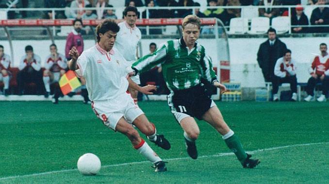 Matías Almeyda durante su etapa en el Sevilla FC - Odio Eterno Al Fútbol Moderno