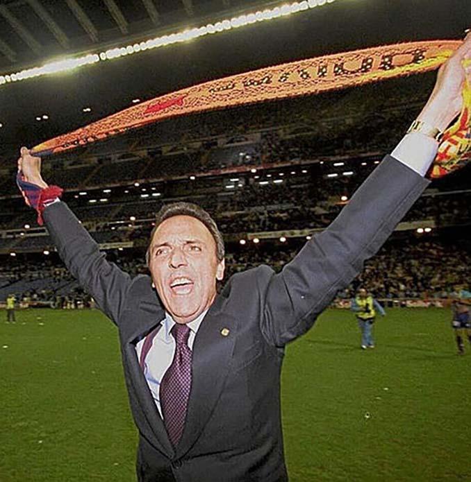 Joan Gaspart, presidente del Barça, celebra un título como un aficionado más - Odio Eterno Al Fútbol Moderno