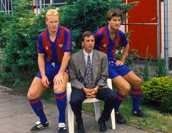 Koeman, Cruyff y Laudrup en 1989 - Odio Eterno Al Fútbol Moderno