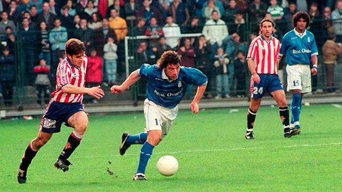 Pompei marcó uno de los goles del Oviedo aquella tarde en Nervión - Odio Eterno Al Fútbol Moderno