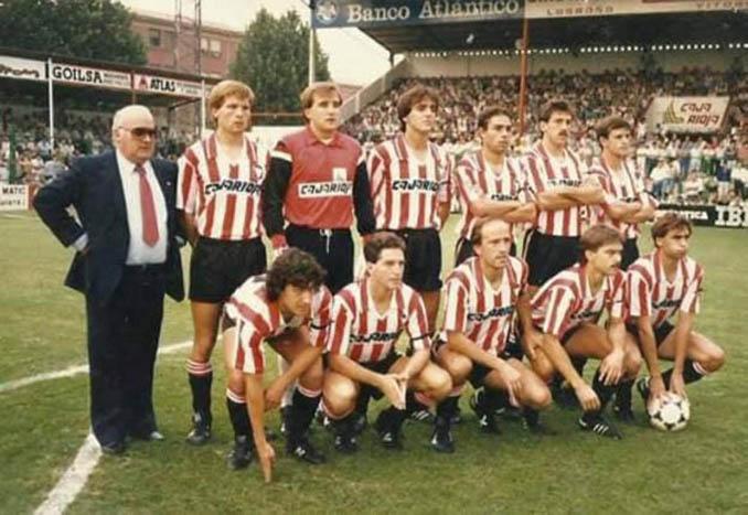 El CD Logroñés logró su primer ascenso en 1987