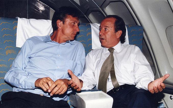 Johan Cruyff con Josep Lluís Núñez - Odio Eterno Al Fútbol Moderno