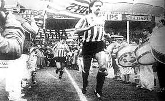 El gol en Las Gaunas de Noly significó el ascenso del CD Logroñés