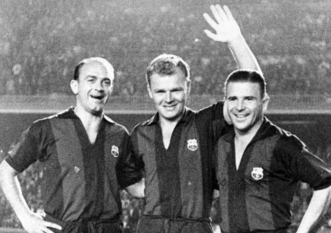 Di Stéfano y Puskas en el partido de homenaje a Kubala - Odio Eterno Al Fútbol Moderno