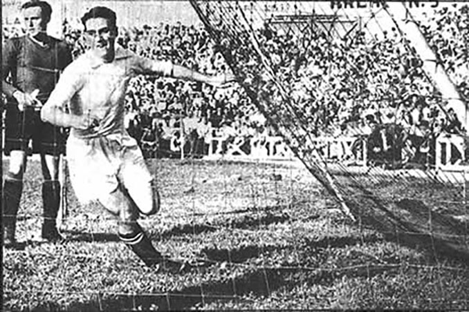 Jugador madridista celebrando uno de los 11 goles que marcaron aquella tarde - Odio Eterno Al Fútbol Eterno