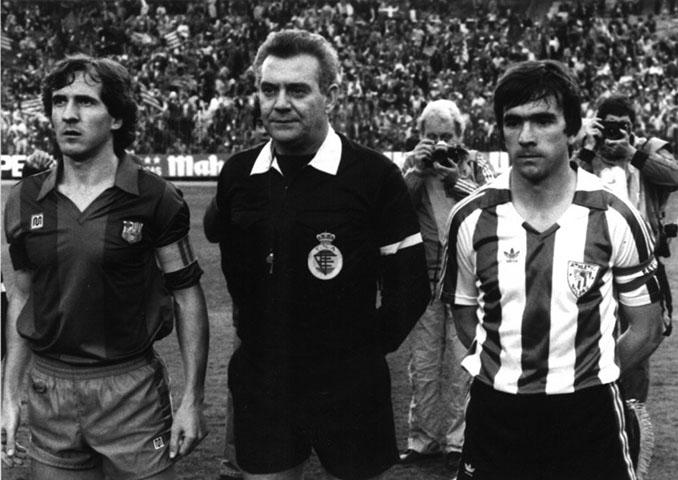 Tente Sánchez, Ángel Franco y Dani en los prolegómenos de la final de 1984 - Odio Eterno Al Fútbol Moderno