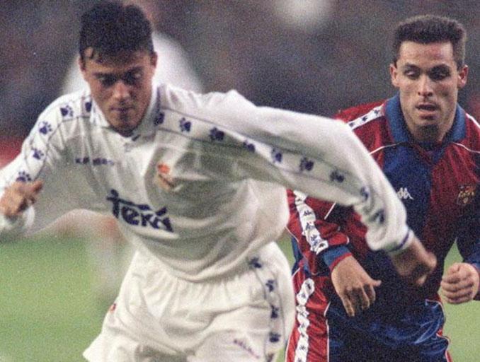Luis Enrique durante su etapa en el Real Madrid - Odio Eterno Al Fútbol Moderno