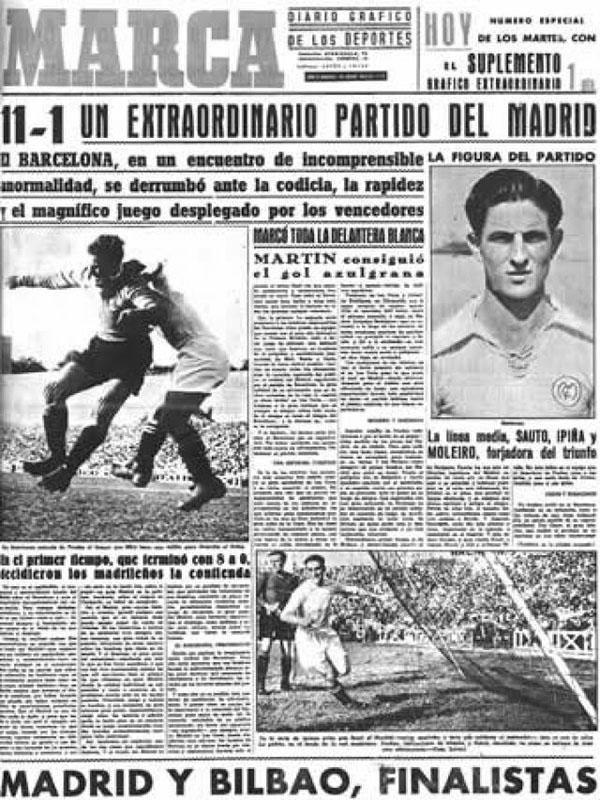 Marca hablando de la mayor goleada en un Clásico - Odio Eterno Al Fútbol Moderno
