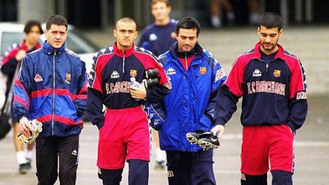 Mourinho durante su etapa en Can Barça - Odio Eterno Al Fútbol Moderno