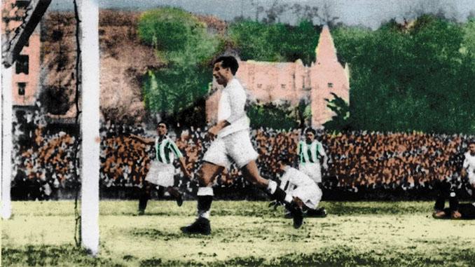 Samitier con la camiseta del Real Madrid - Odio Eterno Al Fútbol Moderno