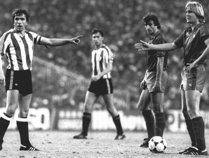 Bernd Schuster durante la final de Copa del Rey de 1984 - Odio Eterno Al Fútbol Moderno