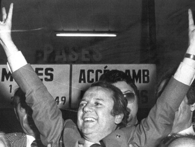 Josep Lluis Núñez ganó las elecciones a la presidencia en 1978 - Odio Eterno Al Fútbol Moderno