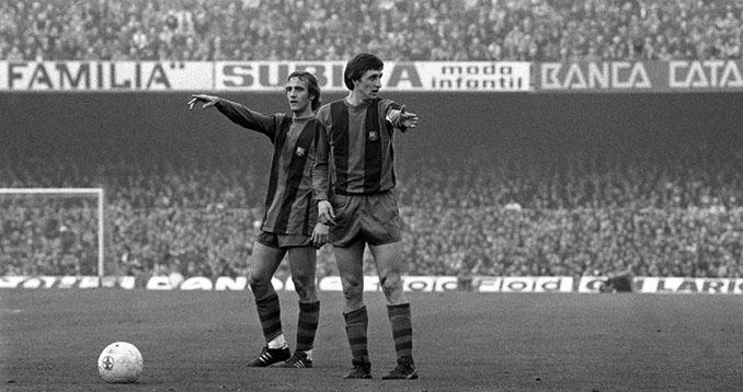 Johan Cruyff y Johan Neeskens dos iconos del barcelonismo - Odio Eterno Al Fútbol Moderno