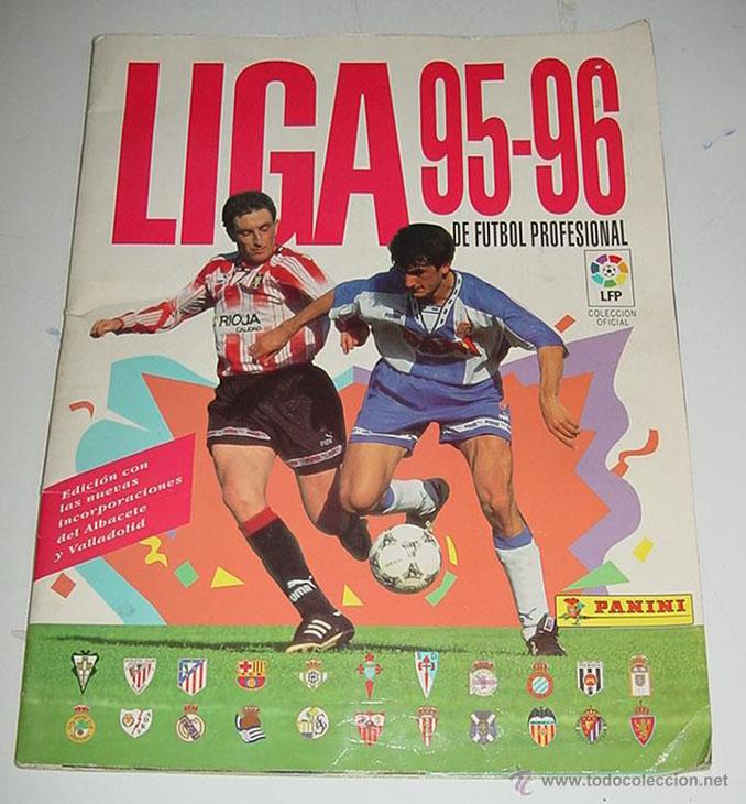 Álbum de cromos con los escudos de la primera Liga de 22 en la temporada 94-96 - Odio Eterno Al Fútbol Moderno
