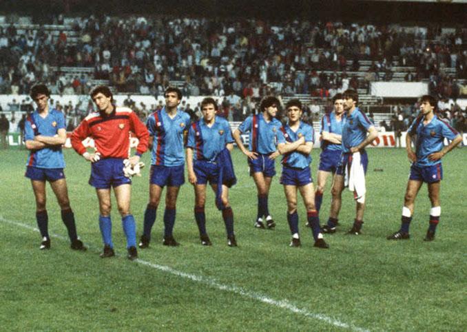FC Barcelona tras caer en la final de la Copa de Europa de 1986 - Odio Eterno Al Fútbol Moderno