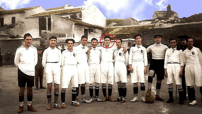 Nita Carmona junto a sus compañeros del Vélez CF en 1922 - Odio Eterno Al Fútbol Moderno