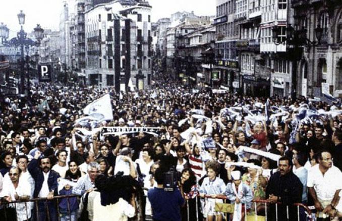 Movilización de aficionados en protesta por el descenso administrativo del Celta de Vigo - Odio Eterno Al Fútbol Moderno