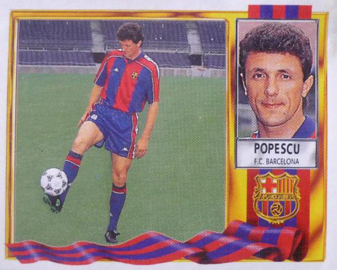 Cromo de Gica Popescu - Odio Eterno Al Fútbol Moderno