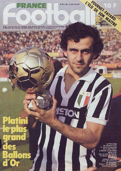 Platini con el Balón de Oro - Odio Eterno Al Fútbol Moderno