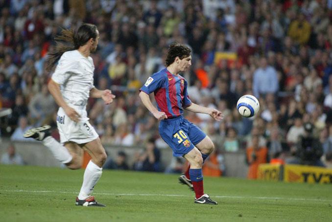 El primer gol de Messi con el Barcelona llegó en 2005 - Odio Eterno Al Fútbol Moderno