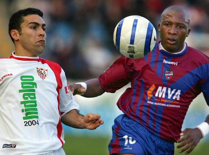 Edwin Congo durante su etapa en el Levante UD - Odio Eterno Al Fútbol Moderno