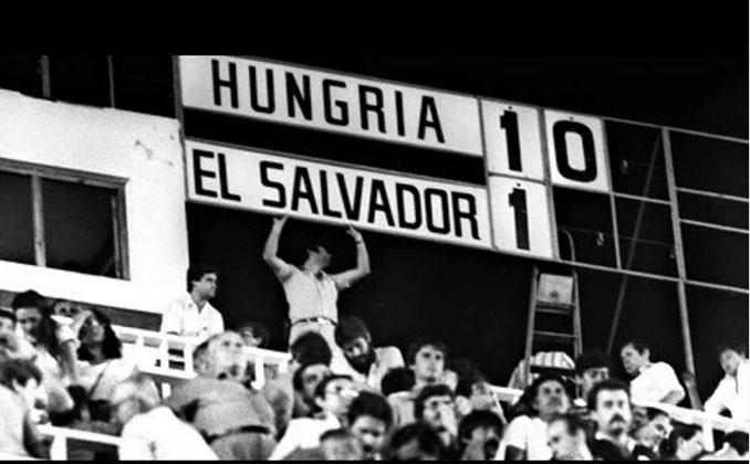 Marcador del Hungría vs El Salvador del Mundial 1982 - Odio Eterno Al Fútbol Moderno