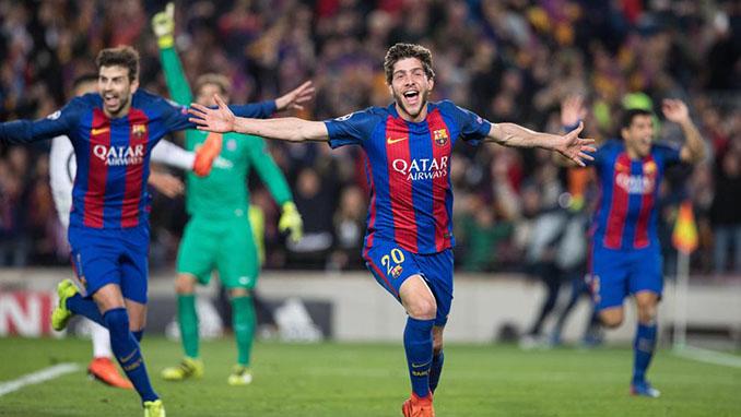 El gol de Sergi Roberto al PSG desató la locura en el Camp Nou - Odio Eterno Al Fútbol Moderno