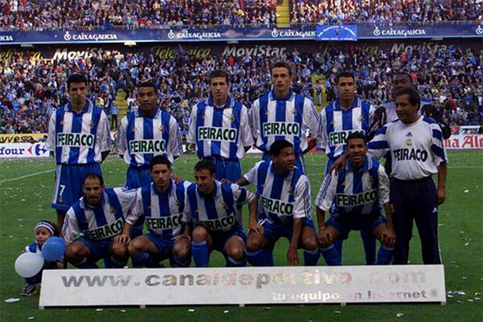 Alineación del Deportivo de la Coruña en el último encuentro de Liga 99-00 - Odio Eterno Al Fútbol Moderno
