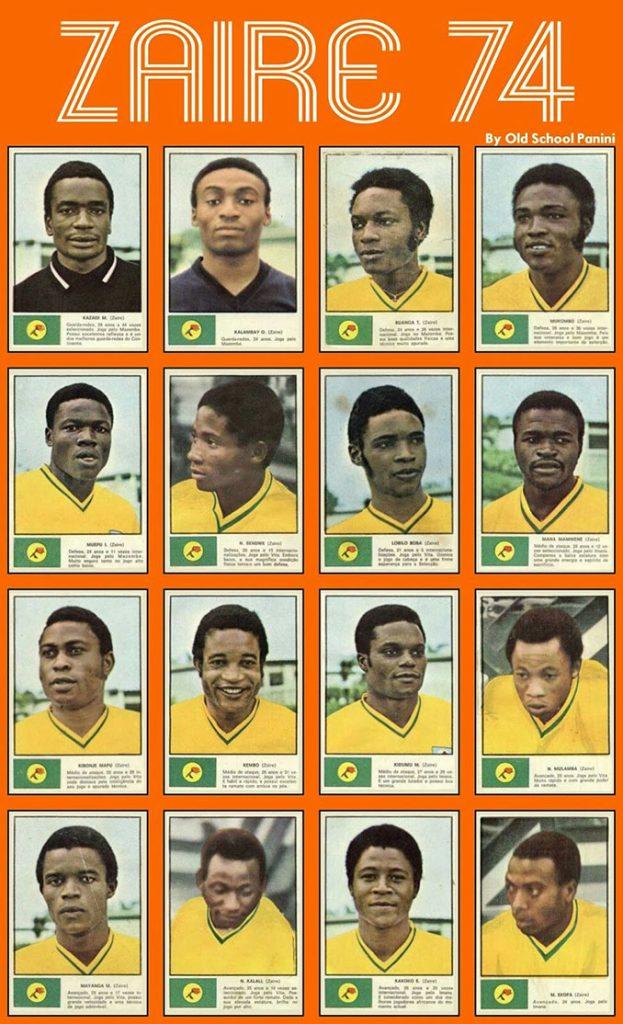 Cromos de la selección de Zaire en 1974. Se cuenta que el dorsal número 2 fue uno de los más difíciles de la colección - Odio Eterno Al Fútbol Moderno