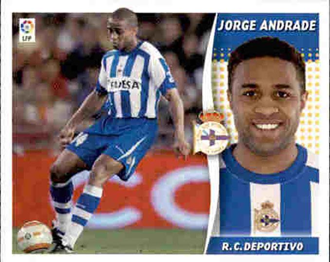 Cromo de Jorge Andrade - Odio Eterno Al Fútbol Moderno