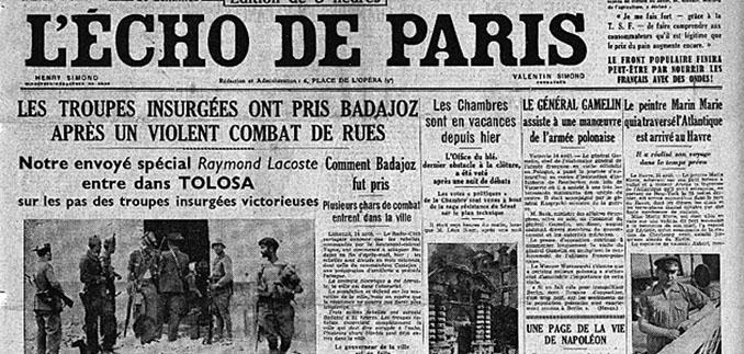 L' Echo de Paris se hace eco de la muerte de Zamora - Odio Eterno Al Fútbol Moderno