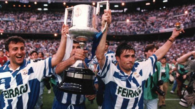 Fran Alfredo celebrando el título en el Santiago Bernabéu - Odio Eterno Al Fútbol Moderno