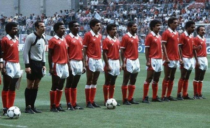 Kuwait en uno de los partidos del Mundial 1982 - Odio Eterno Al Fútbol Moderno
